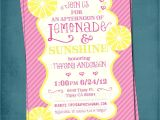 Pink and Yellow Bridal Shower Invitations Lemonade and Sunshine Baby or Bridal Shower Invite Yellow