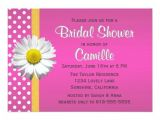 Pink and Yellow Bridal Shower Invitations Pink and Yellow Daisy Bridal Shower Invitation