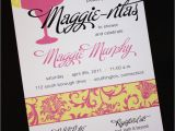 Pink and Yellow Bridal Shower Invitations Pink and Yellow Floral Damask