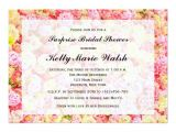 Pink and Yellow Bridal Shower Invitations Pink and Yellow Roses Bridal Shower Invitation