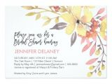 Pink and Yellow Bridal Shower Invitations Yellow and Pink Flowers Bridal Shower Invitation