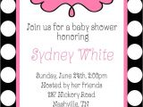 Pink Black and White Baby Shower Invitations Oh Girl Baby Shower Black White Polka Dots Pink