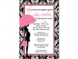 Pink Black and White Baby Shower Invitations Pink and Black Baby Shower Invitation Various Invitation