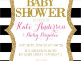 Pink Black and White Baby Shower Invitations Pink Black and White Baby Shower Invitation Pink and