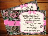 Pink Camo Baby Shower Invites It S A Girl Camo Baby Shower Invitation Pink Camo