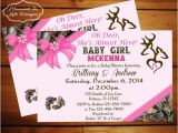 Pink Camo Baby Shower Invites Peek A Boo Camo Baby Shower Invitation Girl Girl Camo