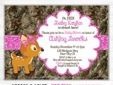 Pink Camo Baby Shower Invites Pink Camo Baby Shower Invitation Girl Glitter Oh Deer Doe