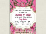 Pink Camo Baby Shower Invites Pink Camo Baby Shower Invitations – Gangcraft