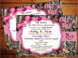 Pink Camo Baby Shower Invites Pink Camo Baby Shower Invitations