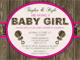 Pink Camo Baby Shower Invites Pink Wood & Hunting Camo Baby Shower Invitation Digital