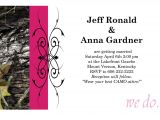 Pink Camouflage Wedding Invitations 50 Custom Pink Camo Wedding Invitations