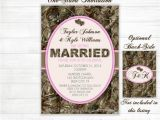 Pink Camouflage Wedding Invitations Camo Wedding Invitation Hunting Camouflage orange Pink