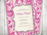 Pink Camouflage Wedding Invitations Pink Camouflage Invitation Camo Invite Custom by Vginvites