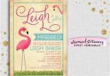Pink Flamingo Bridal Shower Invitations Bridal Shower Invitation Pink Flamingo by Whimsicalstationery