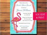 Pink Flamingo Bridal Shower Invitations Pink Flamingo Invitation Pink Flamingo Party Invitation