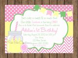 Pink Lemonade Birthday Party Invitations Pink Lemonade Birthday Invitation Lemonade Birthday