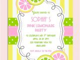 Pink Lemonade Birthday Party Invitations Pink Lemonade Birthday Party Invitation Personalized Diy