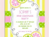 Pink Lemonade Party Invitations Pink Lemonade Birthday Party Invitation Personalized Diy