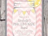 Pink Lemonade Party Invitations Pink Lemonade Invitation Printable Lemonade Stand Invitation