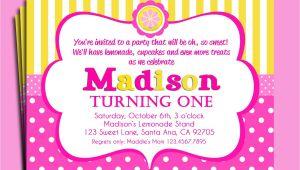 Pink Lemonade Party Invitations Pink Lemonade Invitation Printable or Printed with Free