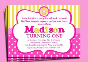 Pink Lemonade Party Invitations Pink Lemonade Invitation Printable or Printed with Free