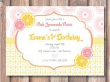 Pink Lemonade Party Invitations Pink Lemonade Printable Invitation