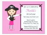 Pink Pirate Party Invitations Pink Pirate Cute Girly Birthday Invitation Zazzle