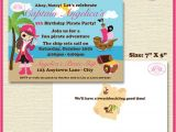 Pink Pirate Party Invitations Pink Pirate Girl Party Invitation Birthday Sea 1st 5th 6th 7th