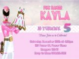 Pink Power Ranger Birthday Invitations 46 Best Power Rangers Birthday Party Ideas Images On Pinterest
