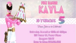 Pink Power Ranger Birthday Invitations 46 Best Power Rangers Birthday Party Ideas Images On Pinterest
