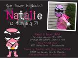 Pink Power Ranger Birthday Invitations Pink Power Ranger Samurai Birthday Party Ideas
