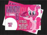 Pinkie Pie Birthday Invitations My Little Pony Pinkie Pie Birthday Invitation by