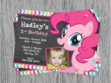 Pinkie Pie Birthday Invitations My Little Pony Pinkie Pie Birthday Invitation Digital File