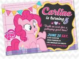 Pinkie Pie Birthday Invitations Pinkie Pie Invitation My Little Pony Birthday Invites On