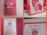 Pinkie Pie Birthday Invitations Pinkie Pie Invitation My Little Pony Invitation