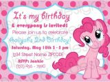 Pinkie Pie Birthday Invitations Pinkie Pie Party Invitation My Little Pony Only $10 to