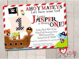 Pirate 1st Birthday Invitations Best 25 Pirate Birthday Invitations Ideas On Pinterest