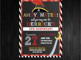 Pirate 1st Birthday Invitations Kitchen Dining