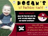 Pirate 1st Birthday Invitations Pirate First Birthday Party Invitation Digital by