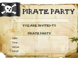 Pirate themed Birthday Party Invitations Free Pirate Party Invitations