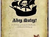 Pirate themed Birthday Party Invitations Just Sweet and Simple Pirate Party Invitations