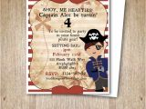 Pirate themed Birthday Party Invitations Pirate theme Birthday Invitation Printable Party Invites