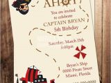 Pirate themed Birthday Party Invitations Printable Pirate Birthday Party Invitation Boys Birthday