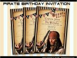 Pirates Of the Caribbean Birthday Party Invitations Pirates Of the Caribbean Birthday Invitation Card