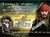 Pirates Of the Caribbean Birthday Party Invitations Pirates Of the Caribbean Birthday Invitation