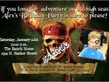 Pirates Of the Caribbean Birthday Party Invitations Pirates Of the Caribbean Birthday Invitations