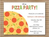 Pizza Birthday Party Invitation Templates 1000 Images About Pizza Party On Pinterest