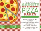 Pizza Birthday Party Invitation Templates Chandeliers & Pendant Lights