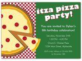 Pizza Birthday Party Invitation Templates Itza Pizza Party Invitations