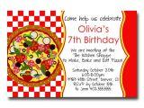 Pizza Birthday Party Invitation Templates Pizza Party Birthday Invitations
